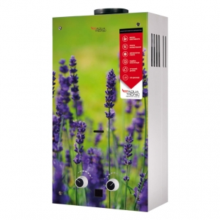 Колонка газовая дымоходная Aquatronic JSD20-AG108 10 л (JSD20AG108FLOWERGLASS) стекло/цветок