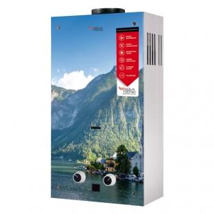Колонка газовая дымоходная Aquatronic JSD20-AG208 10 л (JSD20AG208MOUNTAINSGLASS) стекло/горы