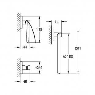 Набор аксессуаров Grohe Essentials New 3в1, 40775001