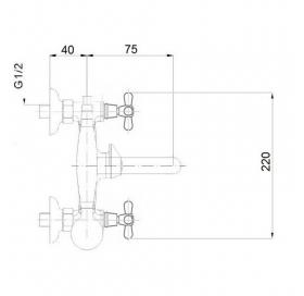 Смеситель для ванны Qtap Liberty CRM 140-2