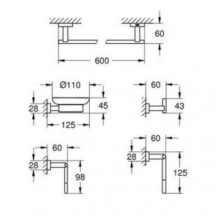 Набор аксессуаров Master 5 в 1 Grohe Essentials Cube 40758001