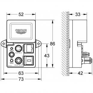 Блок Grohe F-digital Deluxe Bluetooth BT-01A для мобильных на платформе IOS или Android, 36371000