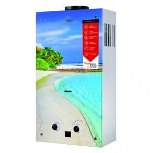 Колонка газовая дымоходная Aquatronic JSD20-AG308 10 л (JSD20AG308BEACHGLASS) стекло/пляж