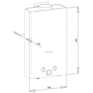 Колонка газовая дымоходная Aquatronic JSD20-A08 10 л (JSD20A08WHITE) белая