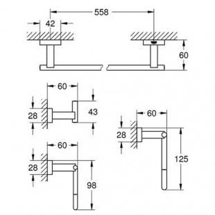 Набор аксессуаров Master 4 в 1 Grohe Essentials Cube 40778001