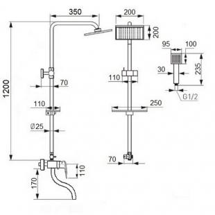 Душевая система Qtap CRM 1005