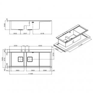Кухонная мойка Apell Sinphonia Satin PD1162IRKITW