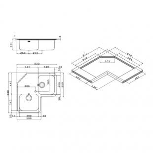 Кухонная мойка Apell Angolo Decor ROAN2IAC