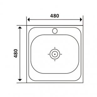 Кухонная мойка Imperial 4848 Satin квадратная, IMP484806SAT
