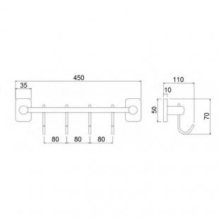 Крючок Q-tap Liberty CRM 1154-4
