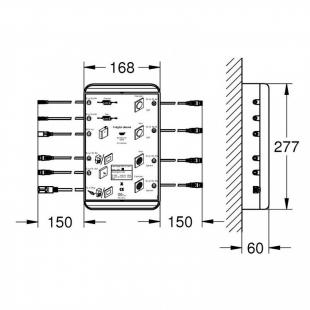 "Базовый блок Grohe F-digital Deluxe 2.0 Bluetooth F-Series 20"", 36397000"