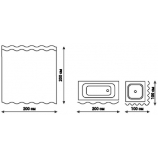 Шторка для ванной Qtap Tessoro 200*200 см, QTPA80155