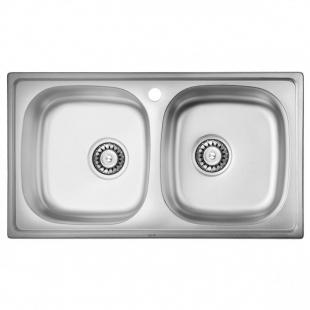 ULA 5104 ZS Satin Кухонная мойка, ULA5104SAT08