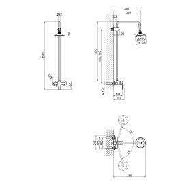 Душевая система Lidz (CRM) 40 87 1010 (LIDZCRM40871010)