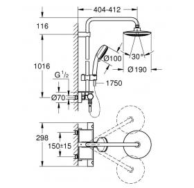 Душевая система с термостатом для настенного монтажа Grohe Euphoria 26249000