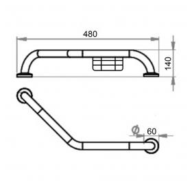 Поручень для ванны Lidz (CRM) LIDZCRM1210303