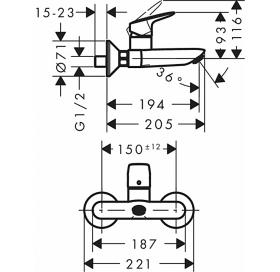 Смеситель для раковины Hansgrohe Logis 71225000