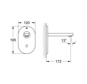 Верхняя часть сенсорного крана для раковины GROHE Euroeco Cosmopolitan E Bluetooth 36410000