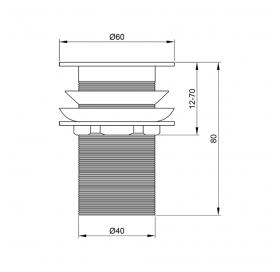 Донный клапан для раковины Lidz (CRM) LIDZCRM470000100