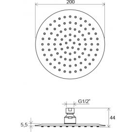Верхний душ Ravak Chrome круглый 200 мм X07P335