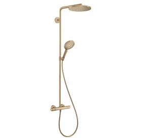 Душевая система с термостатом Hansgrohe Raindance Select S Showerpipe 240 1jet Brushed Bronze 27633140