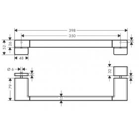 Ручка для двери в душевую Hansgrohe AddStoris 41759700 белый матовый