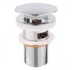Донный клапан для раковины Lidz (CRM) с переливом (LIDZCRM470000300)