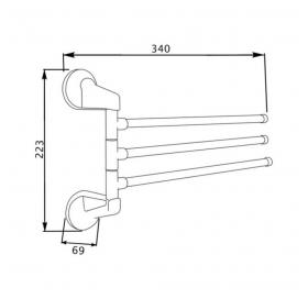 Полотенцедержатель Lidz (CRM) (LIDZCRM1150703)