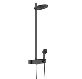 Душевая система Hansgrohe Pulsify Showerpipe 260 2jet с термостатом 24240670 черный матовый