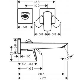 Смеситель для раковины настенный Hansgrohe Logis 71256000