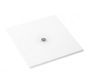 Поддон квадратный Polimat FRESCO глянцевый 80x80x2,5  00447