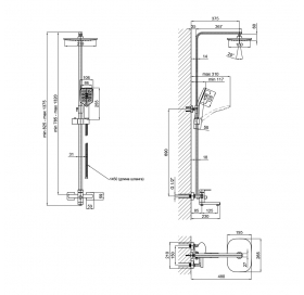 Душевая система Lidz (BLA) 10 30 1005A (LIDZBLA10301005A)