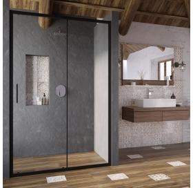 Душевые двери Ravak Blix Slim BLSDP2-120 Чёрный TRANSPARENT X0PMG0300Z1