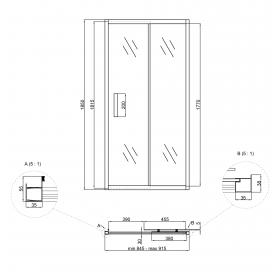 Душевая дверь в нишу Lidz Zycie SD90x185.CRM.TR (LZSD90185CRMTR)