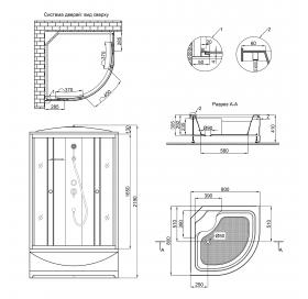 Душевой бокс Lidz Tani SB80x80.SAT.HIGH.FB Fabric (LTSB8080SATHIGHFB)
