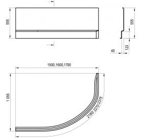 Панель для ванны Ravak A ROSA II L 160 N CZM1200AN0