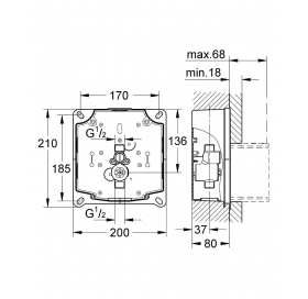 Комплект монтажа для панелей смыва Tectron GROHE Rapido UMB 38787000