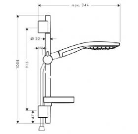 Душевой набор Hansgrohe Raindance Select S 150, 27803000