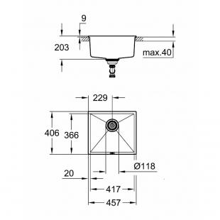 Кухонная мойка Grohe K700U 31653AP0