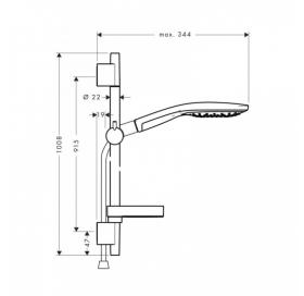 Душевой набор Hansgrohe Raindance Select S 150, 27803400