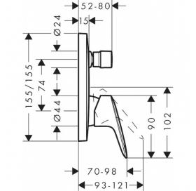 Душевая система скрытого монтажа Hansgrohe Logis EcoSmart (20200003)