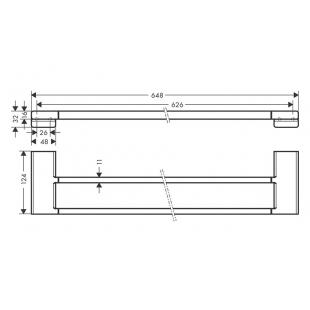 Двойной держатель для банных полотенец Hansgrohe AddStoris 41743670 черный матовый