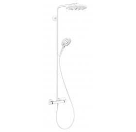 Душевая система Hansgrohe Raindance Select S Showerpipe 240 1jet с термостатом, белый матовый 27633700