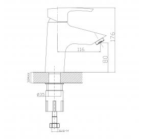 Набор смесителей IMPRESE Horak, для ванны, 05170+10170+R670SD
