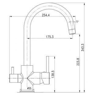 Смеситель для кухни с подключением к фильтру IMPRESE DAICY-U 55009-U