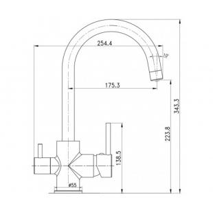 Смеситель для кухни с подключением к фильтру IMPRESE DAICY-U 55009-UB