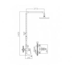 Душевая система IMPRESE WITOW, T-10080