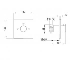 Запорно переключающий вентиль Impres ZAMEK, VR-151031