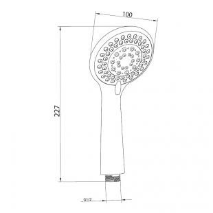 Ручной душ IMPRESE, с 5 типами струи, W100SL5