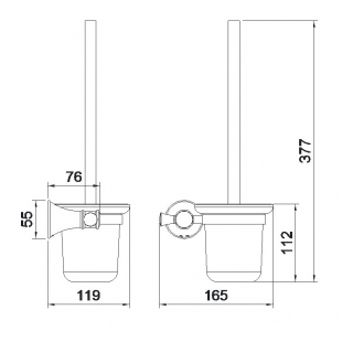 Туалетный ёршик с колбой Imprese PODZIMA ZRALA, ZMK02170826